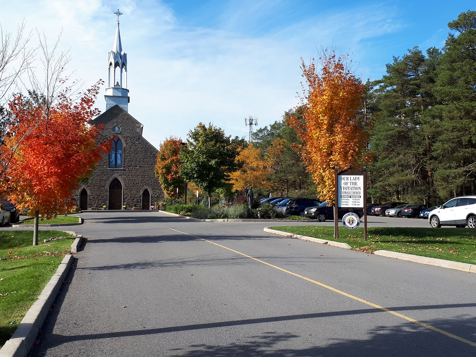 Church in fall